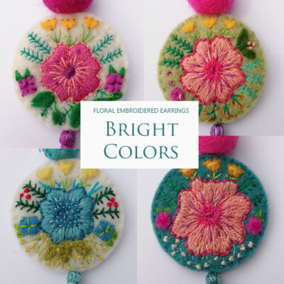 Embroidery earrings