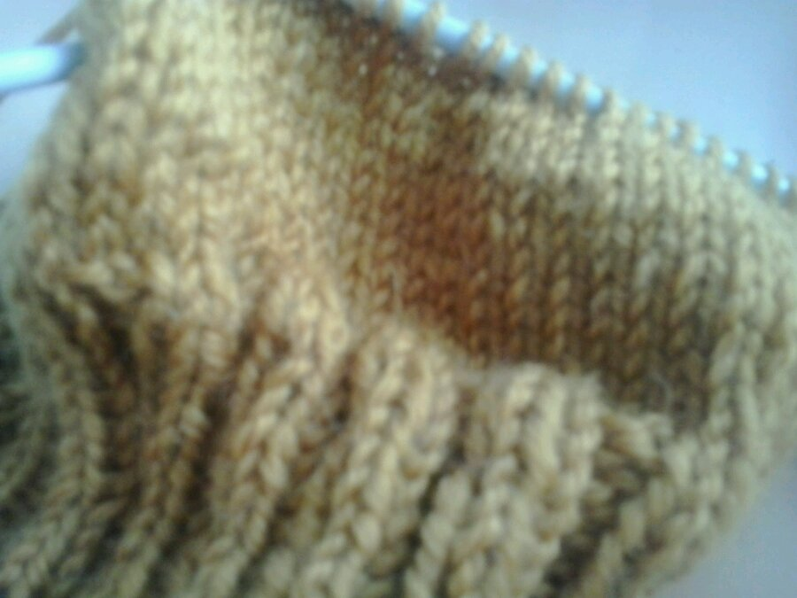 KNITTING AND SNOWING