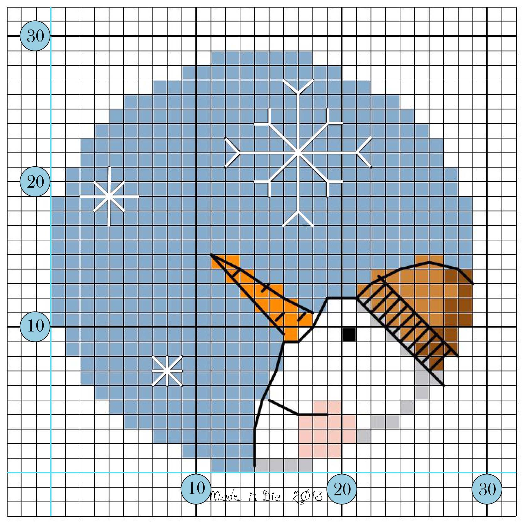 Snowman gift tag free pattern